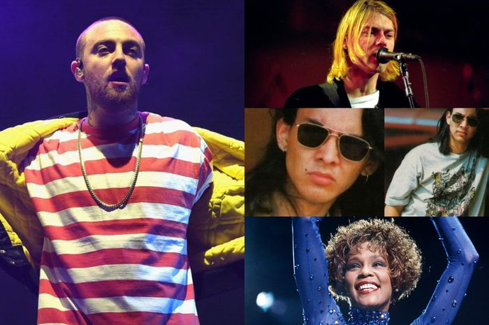 Kolase Mac Miller, Kurt Cobain, Ryan Hidayat, Whitney Houston