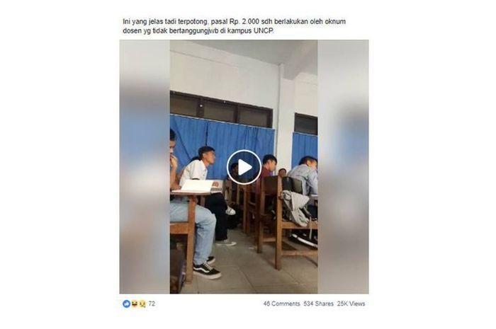 Viral di Medsos! Ini Oknum Dosen yang Minta Uang ke Mahasiswa