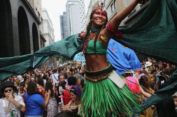 Suasana Rio Carnival di brasil.