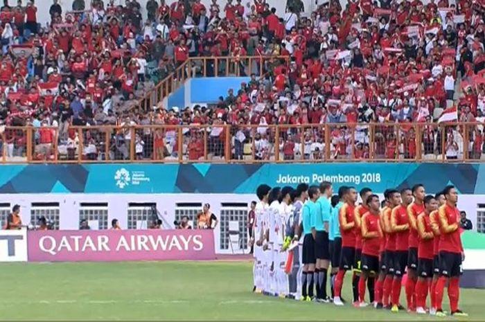 Laga Timnas Indonesia vs Mauritius digelar di Stadion Wibawa Mukti, Bekasi.