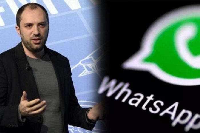 Jan Koum si pendiri WhatsApp kini makan gaji buta dari Facebook.