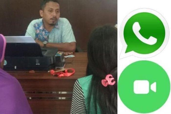 YN (17) saat melaporkan pacarnya inisial RS di Polresta Palembang, setelah foto bugilnya tersebar di media sosial, Senin (10/9/2018).(