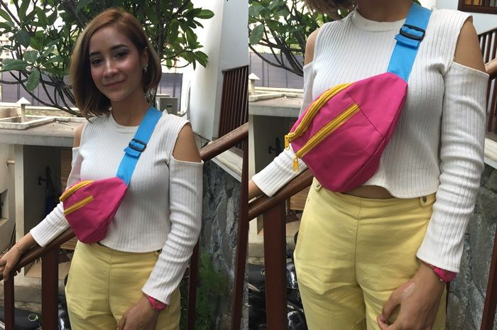 Stylo Of The Day, Colorful Casual Look ala Vlogger Cantik Rania Yasmin