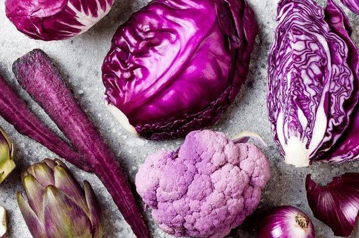Aneka sayuran berwarna ungun memiliki khasiat bagi kesehatan.