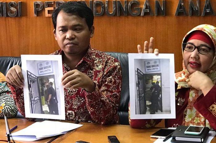 Konferensi pers KPAI terkait sekolah swasta semi-militer yang memiliki sel tahanan di Batam, Kepulau