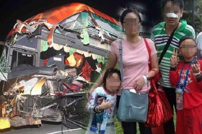 Kisah ibu dari Malaysia yang mengalami kecelakaan bus.