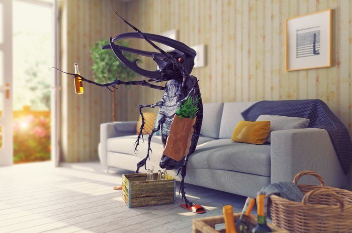 Ilustrasi serangga agresif.