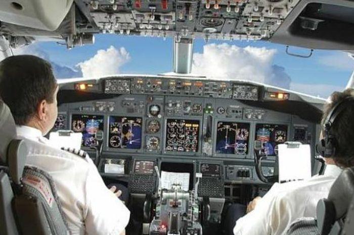 Ilustrasi kokpit pesawat