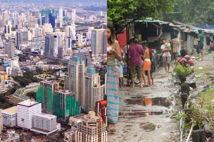 Potret kehidupan yang terjadi kesenjangan di Thailand.