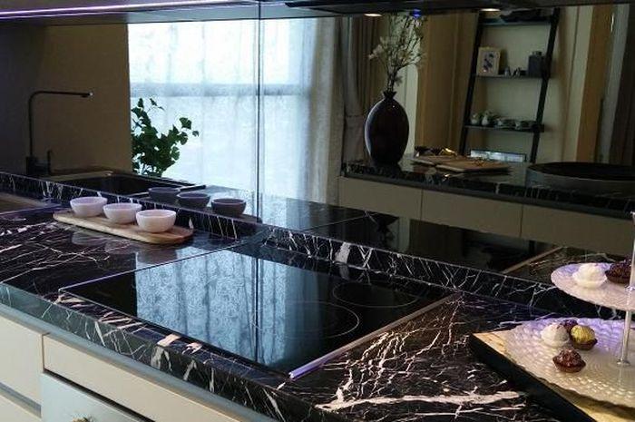 Interior dapur unit Wang Residence