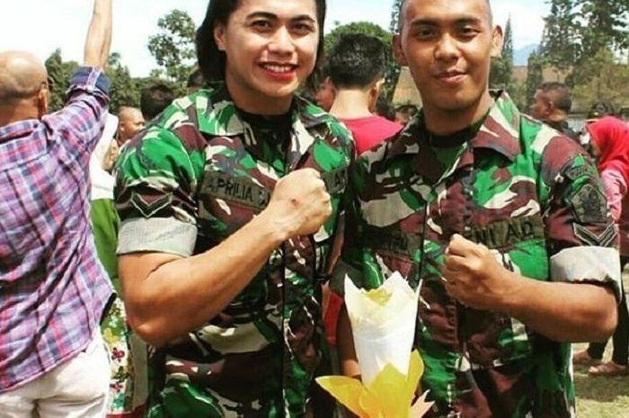 Aprilia Manganang masuk ke TNI AD melalui jalur prestasi