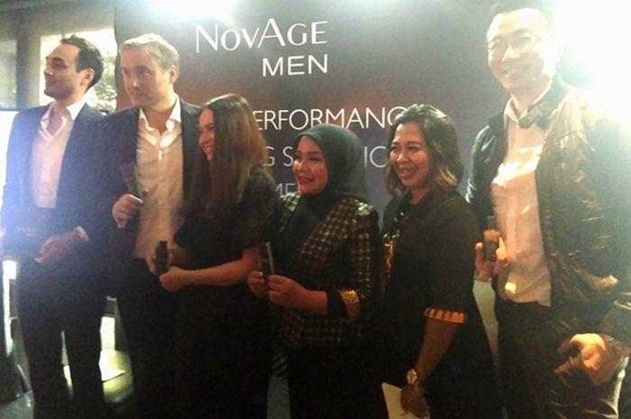 Peluncuran produk perawatan kulit wajah pria, NovAge Men by Oriflame Indonesia, Rabu kemarin (12/9)