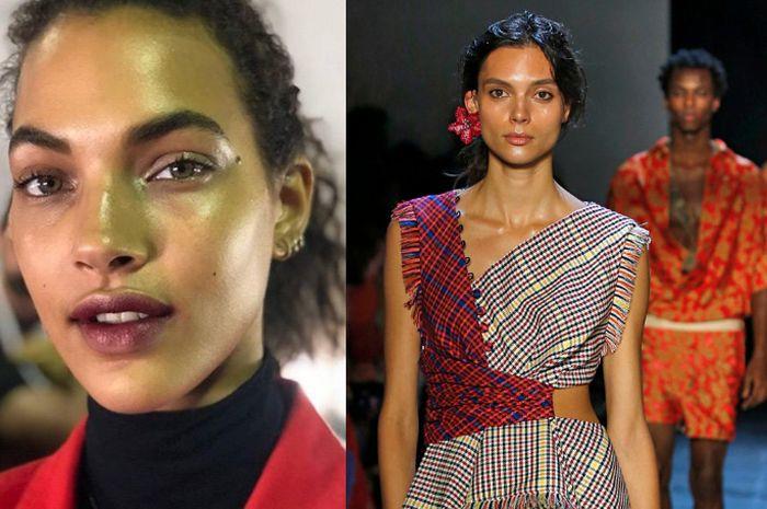 Tampilan lipstik berry stain di panggung New York Fashion Week 2019