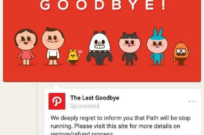 Image result for path social media goodbye
