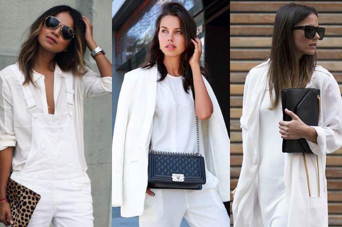 Padu padan outfit serba putih