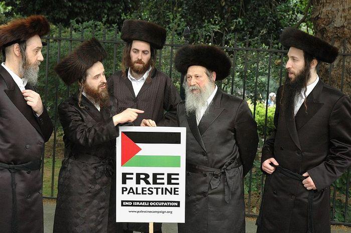Sekte Neturei Karta bela palestina dan ingin bubarkan negara Israel.