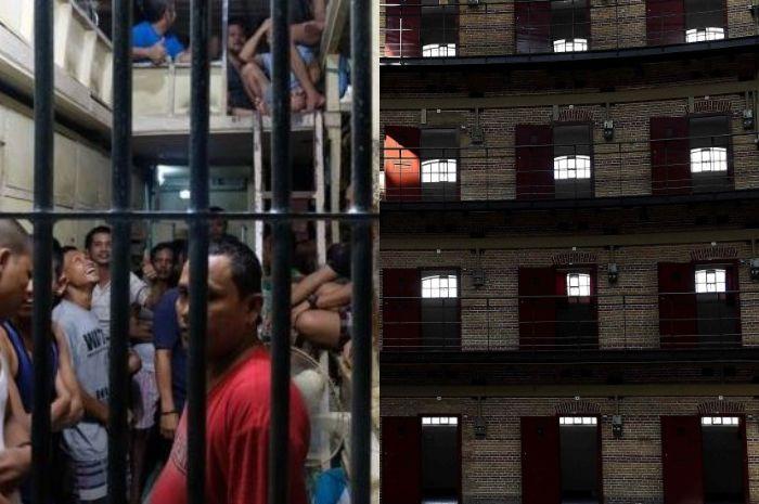 Penjara Indonesia (kiri), penjara Belanda (kanan).