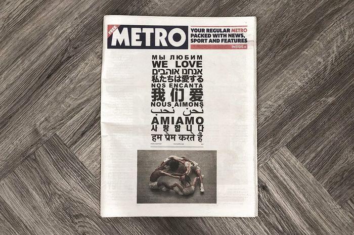 Iklan Yeezy di Koran Metro