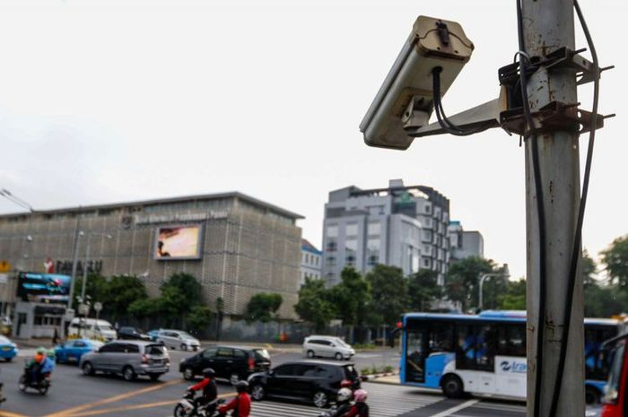 CCTV yang akan digunakan dalam sistem tilang elektronik.