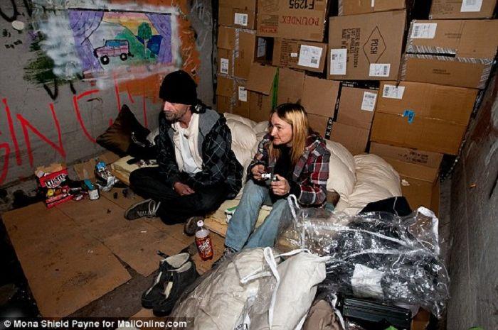 ratusan orang tinggal di terowongan bawah tanah Las Vegas
