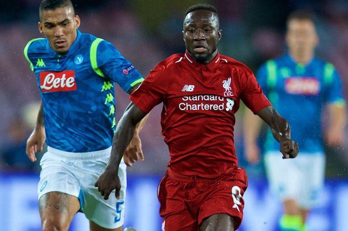 Naby Keita mengalami cedera saat melawan Napoli dalam partai lanjutan Grup C Liga Champions