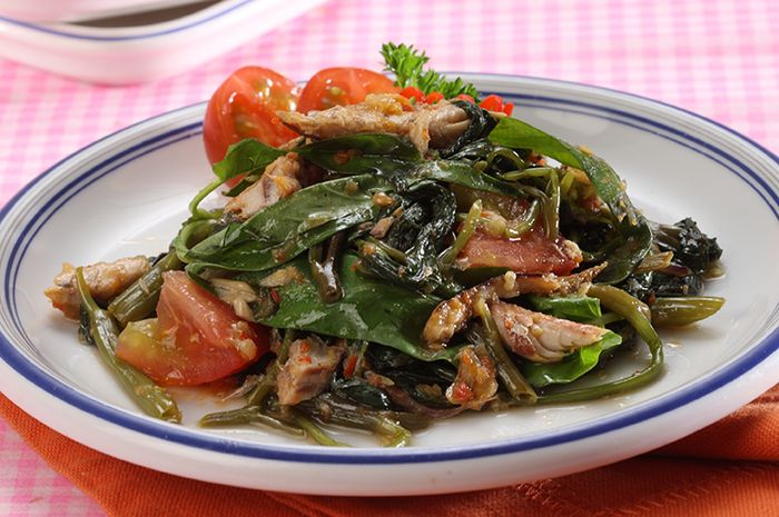 Tumis Kangkung Ikan Cue