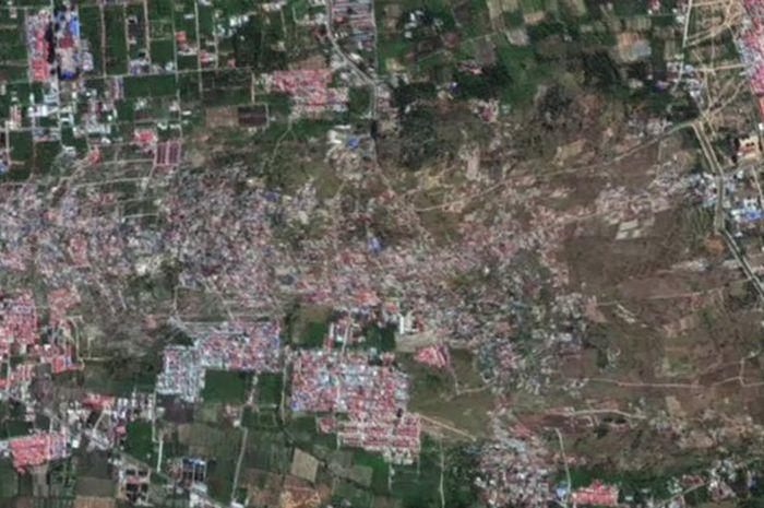 Fenomena likuifaksi yang terjadi di Petobo, Palu, usai gempa terjadi.