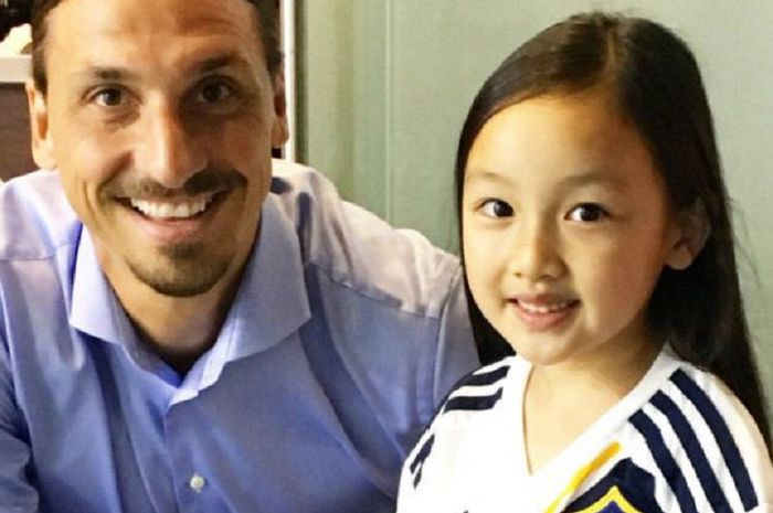 Malea Emma Bersama dengan Zlatan Ibrahimovic