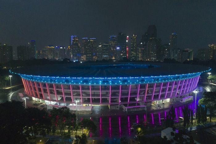 Fasad Gelora Bung Karno, Senayan saat perhelatan Asian Games 2018