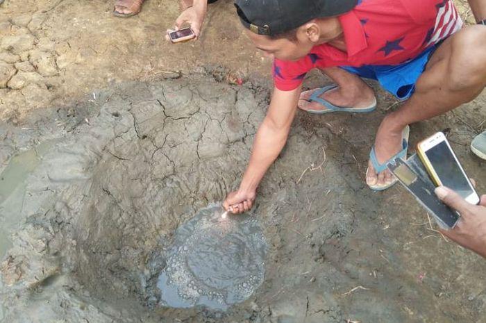 sumur misterius muncul di Cilacap, bentuknya mirip kawah gunung