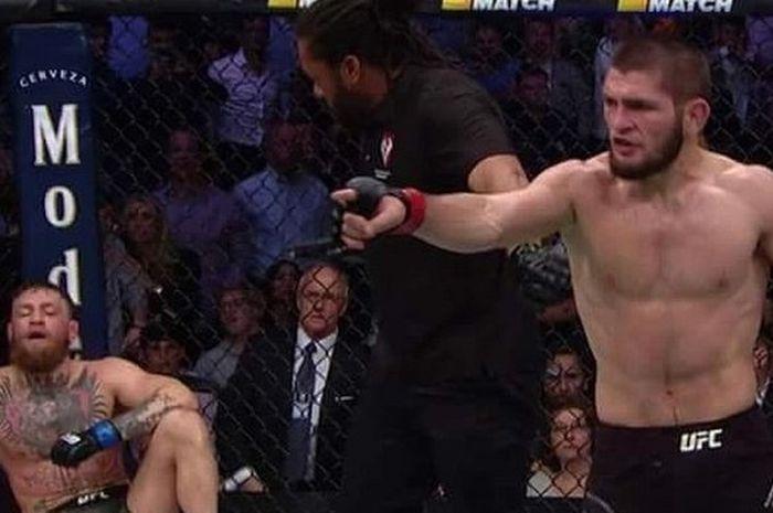 Hasil UFC Cornor McGregor vs Khabib Nurmagomedov, Khabib buat kerusuhan di akhir laga karena ucapan