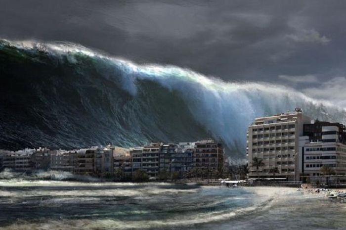 Ilustrasi tsunami. Inilah peta rawan tsunami di Indonesia. (scrivial.com)