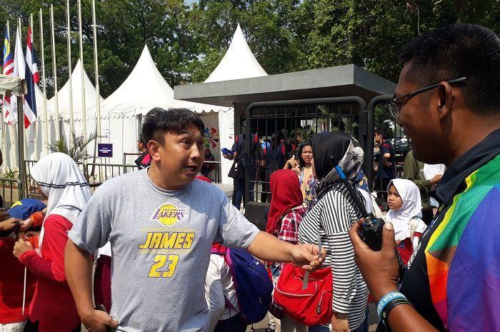 Augie Fantinus saat ditemui di Gate 11, GBK, Senayan, Jakarta Pusat