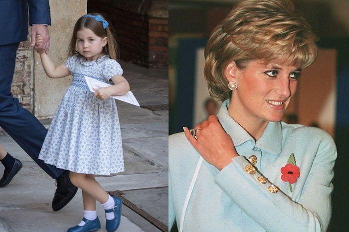 Tak Pernah Bertemu, Putri Charlotte dan Putri Diana Punya Banyak Kesamaan