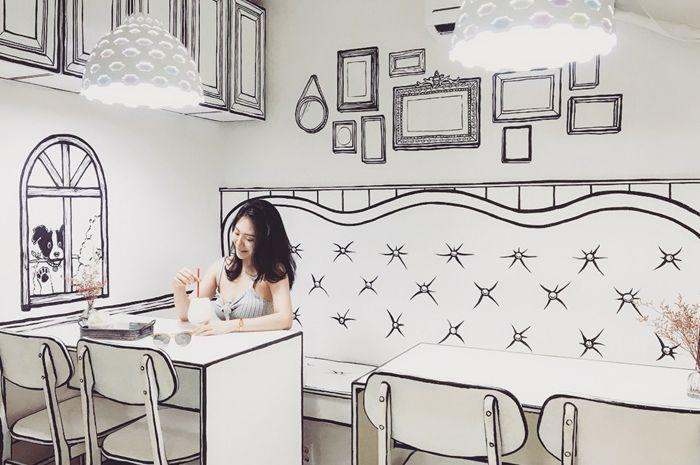 Kafe 2 dimensi berkonsep dunia komik