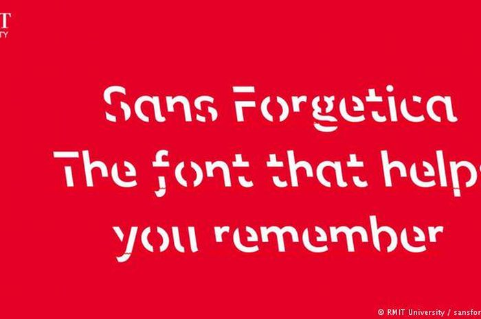 Para peneliti di RMIT University merancang font Sans Forgetica untuk membantu pembaca mengingat dengan mudah.