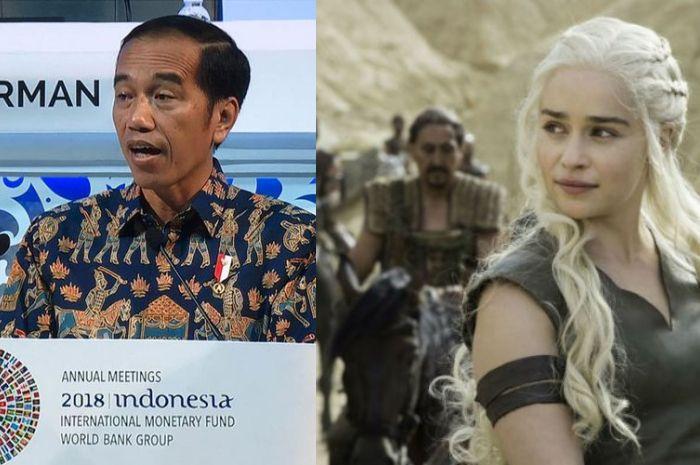 Presiden Jokowi dan cuplikan serial Game of Thrones