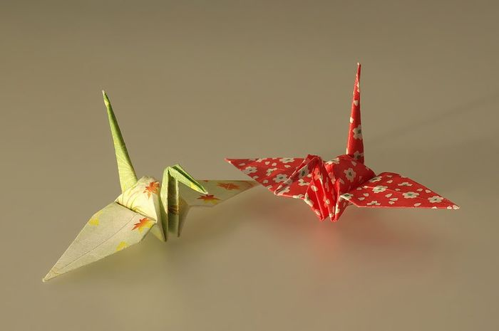 Ilustrasi Origami Bangau