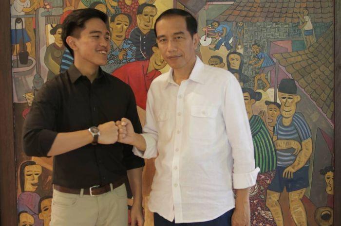 Jokowi bersama putra sulungnya Kaesang, Pangarep