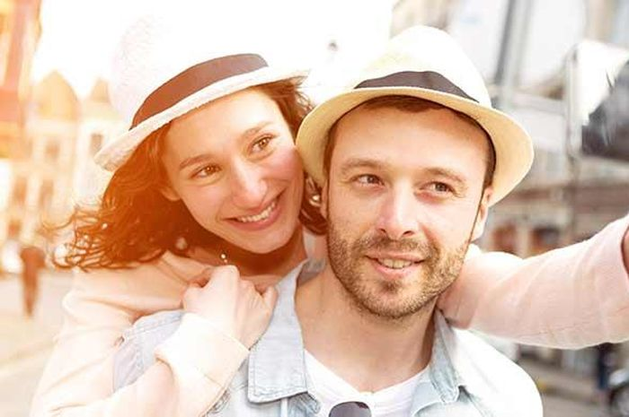 Pasangan selfie.