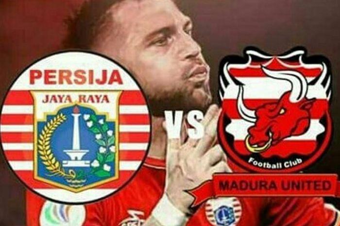 Madura United VS Persija Jakarta, Minggu  (14/10/2018), Stadion elora Ratu Pamelingan, Pamekasan.