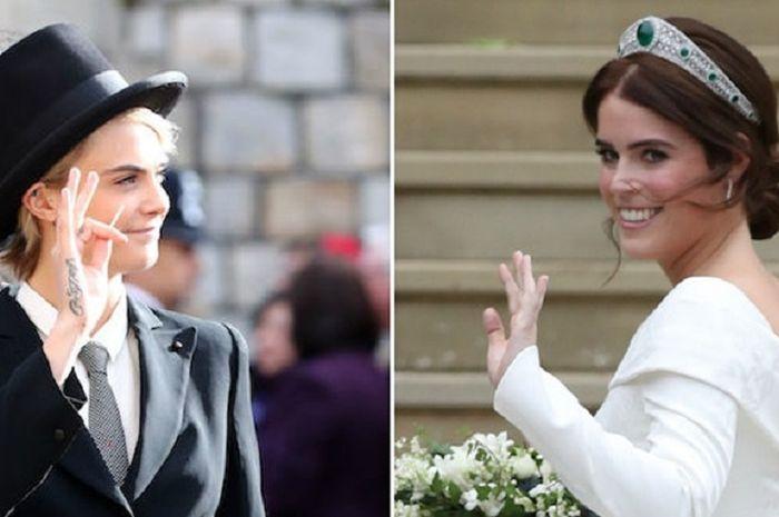 Cara Delevingne dan Putri Eugenie