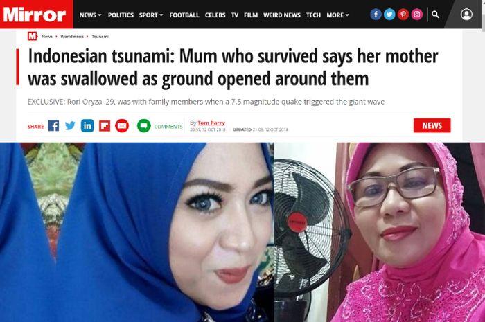 Korban Gempa Palu Ceritakan Detik-detik Sang Ibu Meninggal Ditelan Bumi, Kisahnya Viral dan Disorot Media Inggris