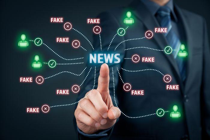 Hoax disembunyikan seakan menjadi sebuah berita aktual.