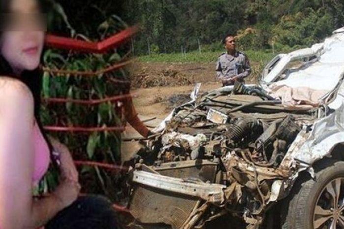 Rini Puspitawati akhirnya meninggal usai mengalami kecelakaan tunggal di kawasan Sarangan, Magetan, Jawa Timur, Sabtu (13/10).