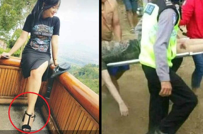 High Heels sebabkan Rini Puspitawati kecelakaan