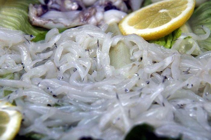 Angulas, salah satu makanan paling mahal di Spanyol.