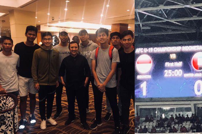 Gila Bola, Ustaz Yusuf Mansur Rela Duduk di Lantai GBK Tonton Timnas U-19 Vs UEA