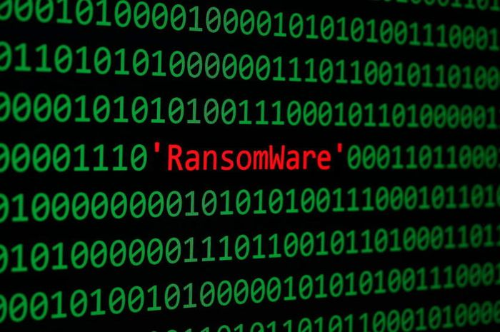 78680248 - the ransomware and binary code, ransomware concept security and malware attack.