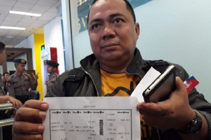 Sony Setiawan selamat dari kecelakaan karena batal naik Lion Air JT 610. (Bangka Pos)
